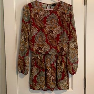 Lucca Paisley Open Back Romper